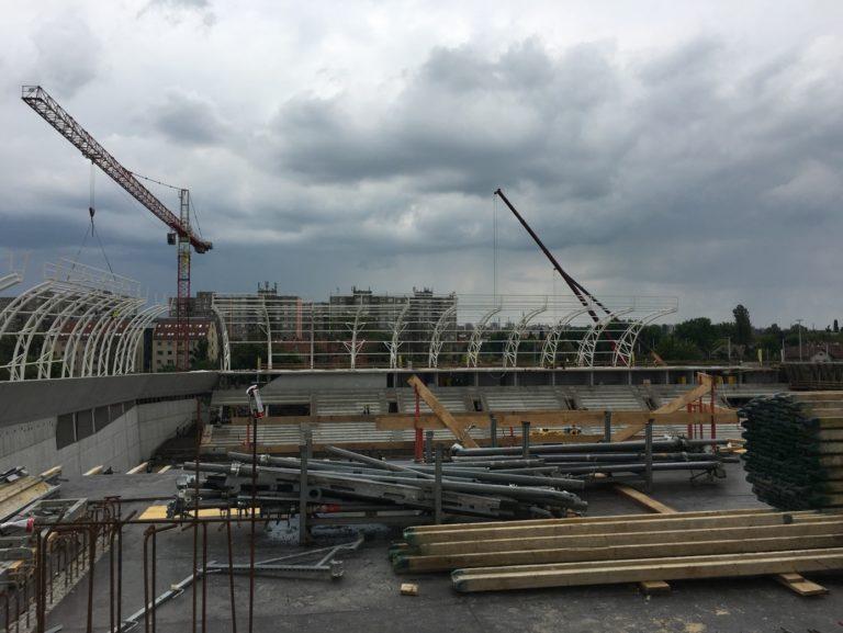 ZÁÉV-WHB Konzorcium – MTK Hidegkuti Nándor Stadion tetőszerkezet Budapest 2016 1